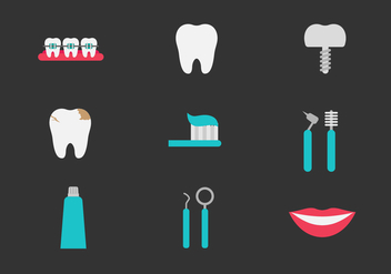 Free Teeth and Dentistry Icons - vector #416301 gratis