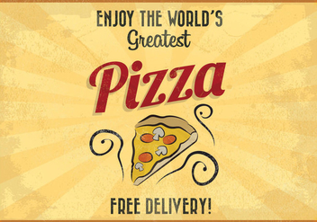 World's Greatest Pizza Vector - Kostenloses vector #416411