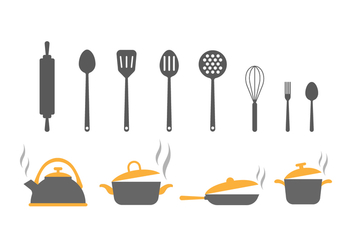 Free Kitchen Utensils Vector Icons - Free vector #416501