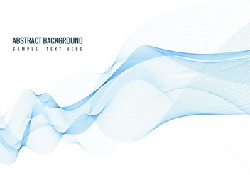 Free Vector Blue Wave Background - Free vector #416521