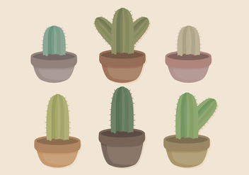 Vector Potted Cacti Collection - Kostenloses vector #416571
