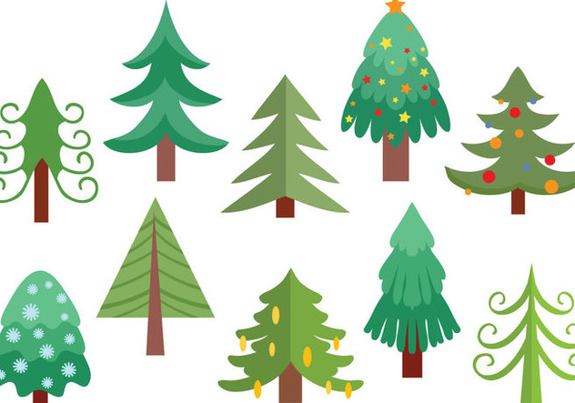 Free Christmas Tree Vectors - бесплатный vector #416601