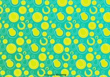 Tennis Ball Vector Pattern - бесплатный vector #416871
