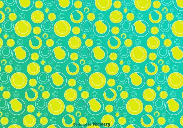 Tennis Ball Vector Pattern - Free vector #416871