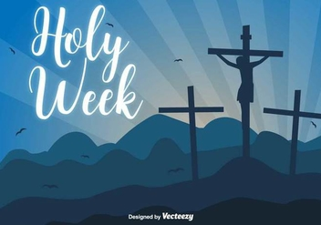 Holy Week Vector Background - vector gratuit #416881