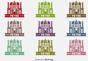 Petra Building Vector Icons - бесплатный vector #416901
