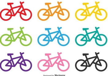 Bicycles Vector Shapes - vector gratuit #416991