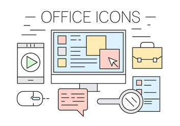 Free Office Icons - vector gratuit #417061