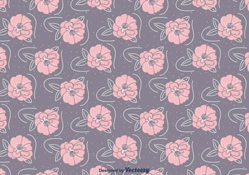 Hand Drawn Camellia Pattern - vector gratuit #417131