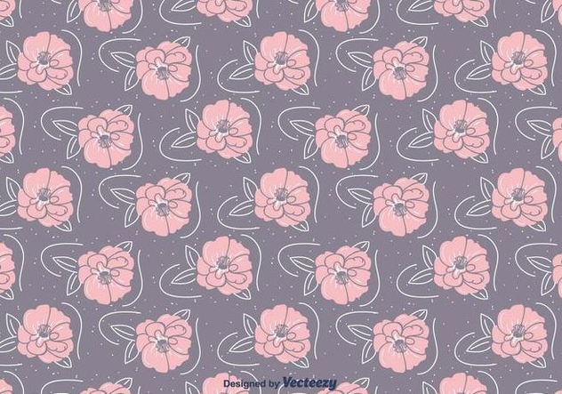 Hand Drawn Camellia Pattern - Free vector #417131