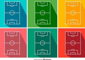Football Ground Vector Icon Set - Free vector #417251