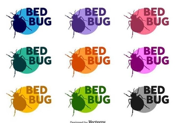Bed Bugs Vector Silhouettes - vector gratuit #417261