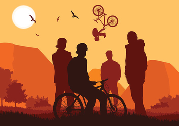 Bike Trail Club Free Vector - vector gratuit #417291