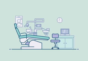 Free Dentist Office Illustration - бесплатный vector #417331