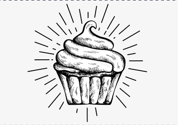 Free Hand Drawn Cupcake Background - бесплатный vector #417391