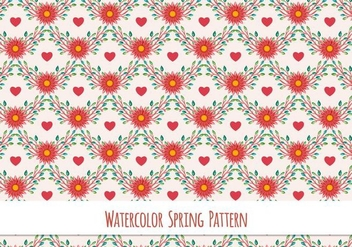 Free Vector Watercolor Pattern - vector gratuit #417411