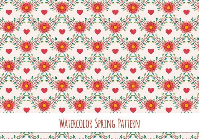 Free Vector Watercolor Pattern - бесплатный vector #417411