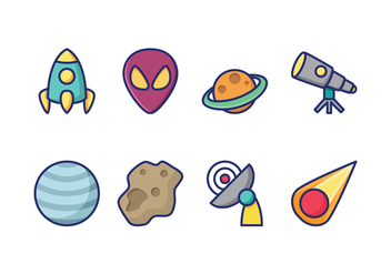 Free Space Icons - vector #417531 gratis