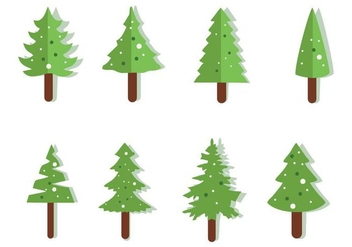 Free Christmas Tree Icons Vector - Free vector #417551