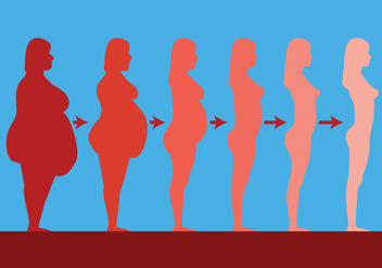 Slimming Vector Silhouettes - бесплатный vector #417611