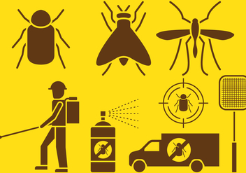 Pest Control Icons - Free vector #417641