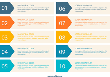 Colorful Numbered Banner Collection - vector #417681 gratis