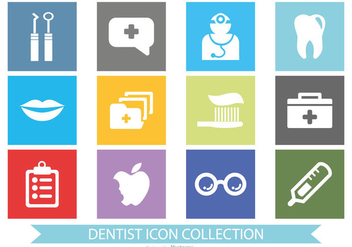 Dentist Icon Collection - Free vector #417791