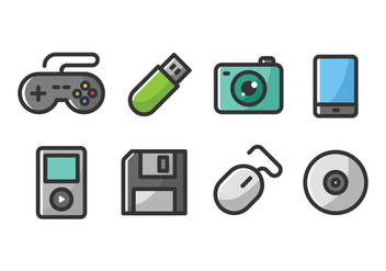 Technology Icons - vector #417821 gratis