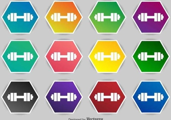 Dumbell Vector Icons - Kostenloses vector #417841