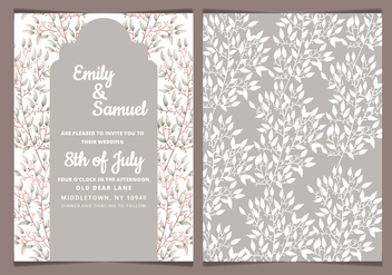 Vector Neutral Tones Wedding Invitation - vector gratuit #417851