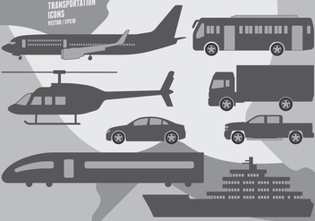 Transportation Icons - vector #417971 gratis