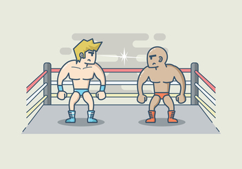 Free Wrestling Illustration - бесплатный vector #417981