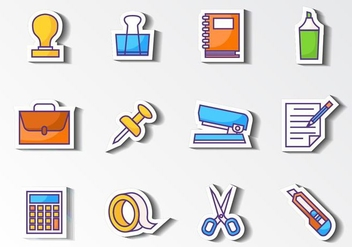 Free Office Stationery Icons Vector - vector gratuit #417991