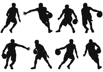 Basketball Player Silhouettes - vector gratuit #418021