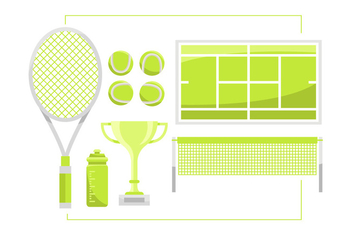 Tennis Vector Item Sets - Kostenloses vector #418031