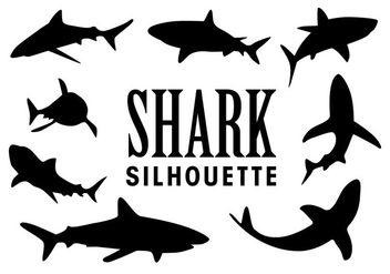 Vector Shark Silhouettes - бесплатный vector #418041
