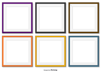 Square Frames Collection - vector gratuit #418061