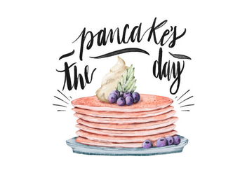 Pancake's Day Illustration - vector gratuit #418211