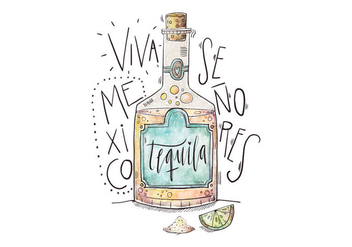 Mexico Tequila Illustration - бесплатный vector #418221