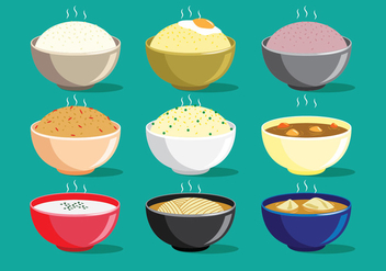 Asian Food - vector #418381 gratis