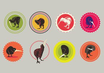 Set of Kiwi Vector Icons - vector gratuit #418391