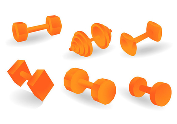 Free Dumbell Vector Illustration - Kostenloses vector #418411