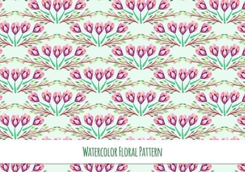 Free Vector Watercolor Pattern With Spring Flowers - Free vector #418611