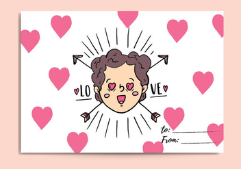Free Valentines Day Card - vector gratuit #418671