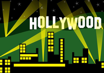 Hollywood City Landscape - vector #418711 gratis