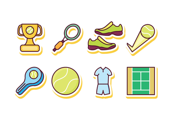 Free Tennis Icon Set - бесплатный vector #418811