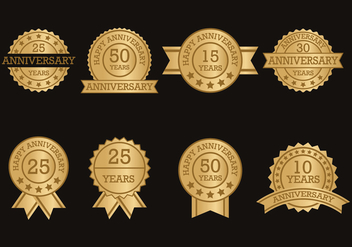 Anniversary Label Collection - vector #418831 gratis