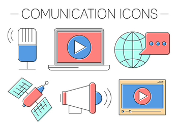Free Comunication Icons - бесплатный vector #418911