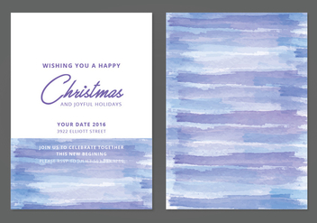 Vector Watercolor Winter Card - Kostenloses vector #418931