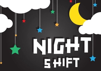 Night Shift Background Vector - vector gratuit #418961
